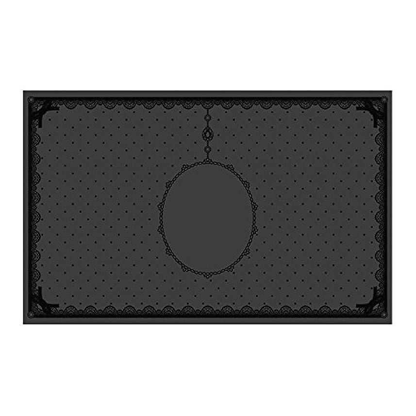 パラシュート旅行者姉妹シリコンマット(表面コート)ブラック