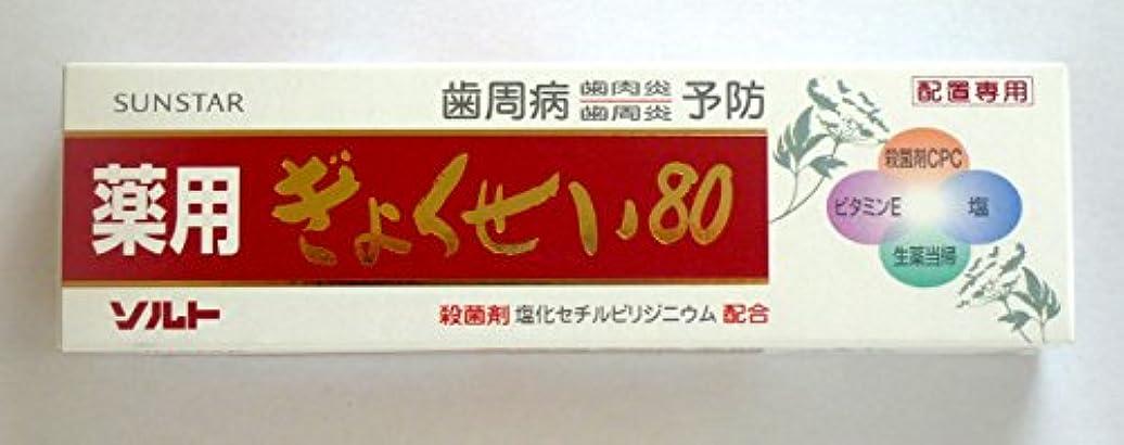 ソーダ水協力消毒剤薬用ソルトぎょくせい80 3本セット サンスター