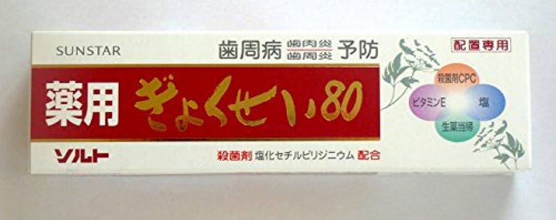 購入遵守する帳面薬用ソルトぎょくせい80 3本セット サンスター