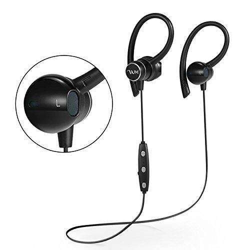Bluetooth イヤホン ワイヤレスイヤホン ブルートゥース イヤホン スポーツ ヘッドセット Bluetooth 4.1 IPX5 防水 高音質 マイク内蔵 スポーツ仕様 ノイズキャンセリング iPhone Androidなど対応 ブラック