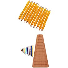 MagiDeal Montessori Bead Bars 1-10, Kids Early Educational Toy, Mathematic Material for 1-100 Counting & Addition Subtraction Learning