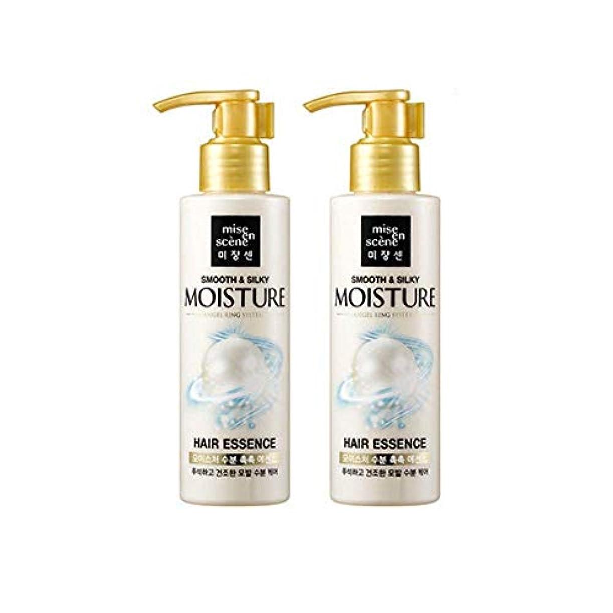 コーンウォールしたいオーク[miseenscene] 1+1 ミジャンセン スムース&シルキー モイスチャー ヘアエッセンス 髪の美容液 140ml×2本(smooth&silky moisture hair essence 140ml×2)