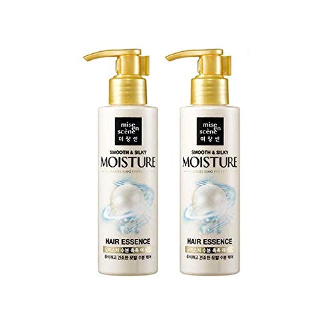マングルプラカード疲労[miseenscene] 1+1 ミジャンセン スムース&シルキー モイスチャー ヘアエッセンス 髪の美容液 140ml×2本(smooth&silky moisture hair essence 140ml×2)