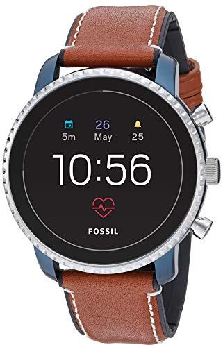 Fossil メンズ ジェネレーション4 Explorist HR ステンレススチール タッチスクリーン スマートウォッチ 心拍数表示、GPS対応、NFC対応、スマートフォン通知機能付き One Size ブルー