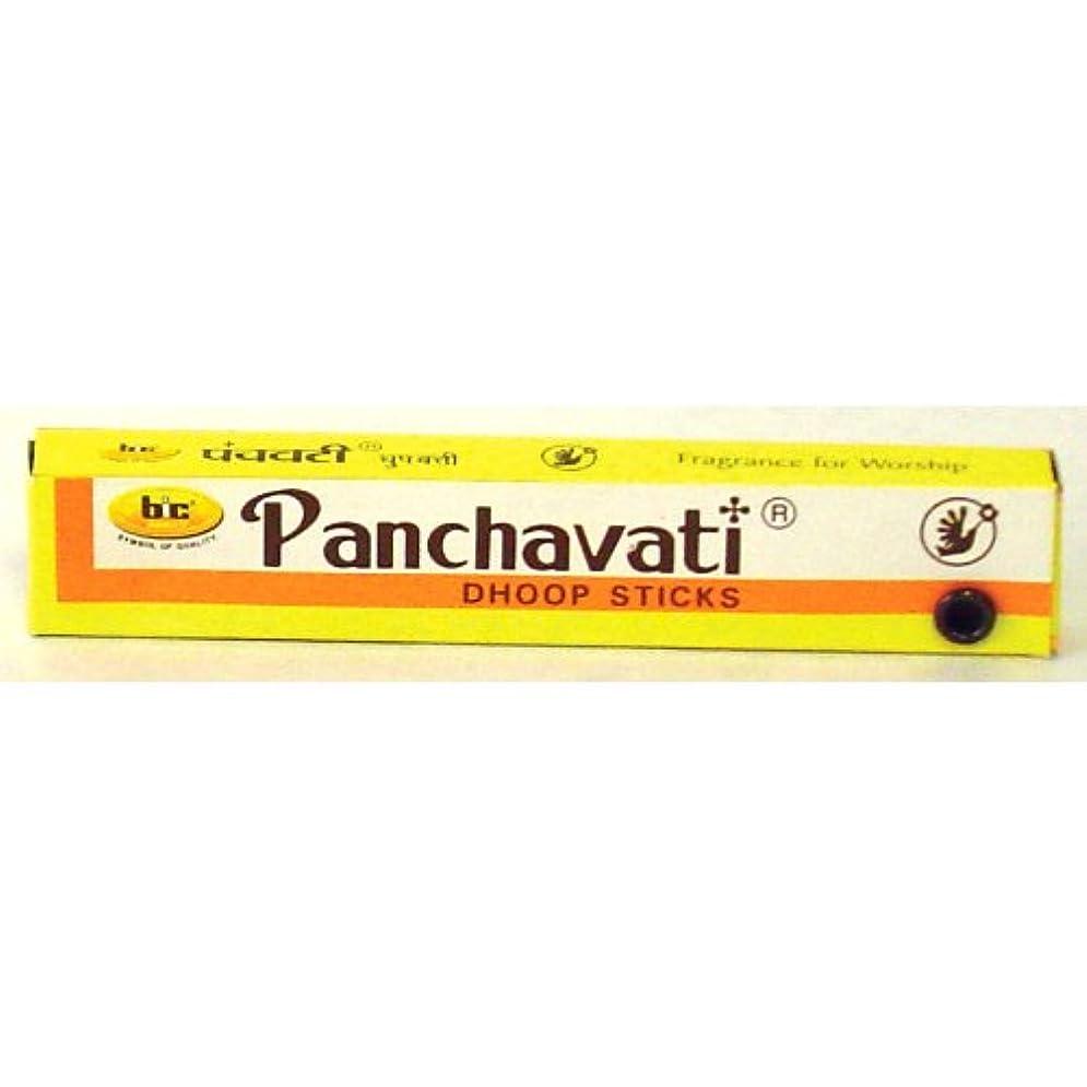 餌戦艦展示会Panchavati Dhoop Sticks - One Dozen Boxes - 5 King Size by Incense
