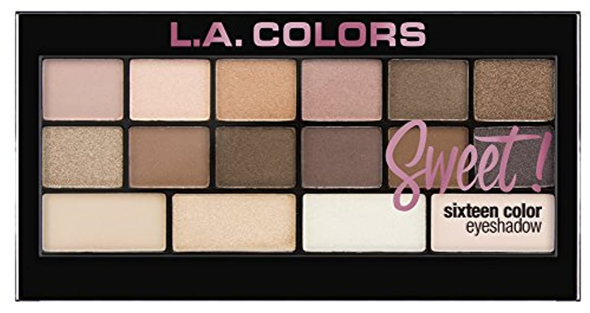 モード女将港L.A. Colors Sweet! 16 Color Eyeshadow Palette - Charming (並行輸入品)