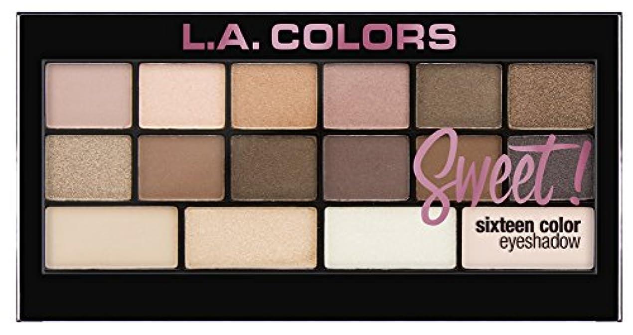 マルクス主義ブローホール消毒剤L.A. Colors Sweet! 16 Color Eyeshadow Palette - Charming (並行輸入品)