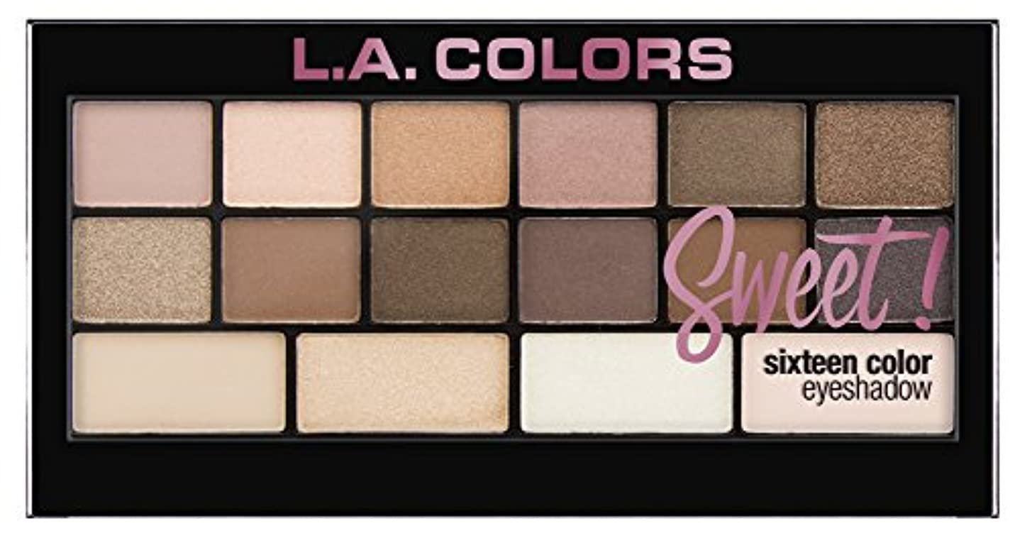 リス不正直湿度L.A. Colors Sweet! 16 Color Eyeshadow Palette - Charming (並行輸入品)