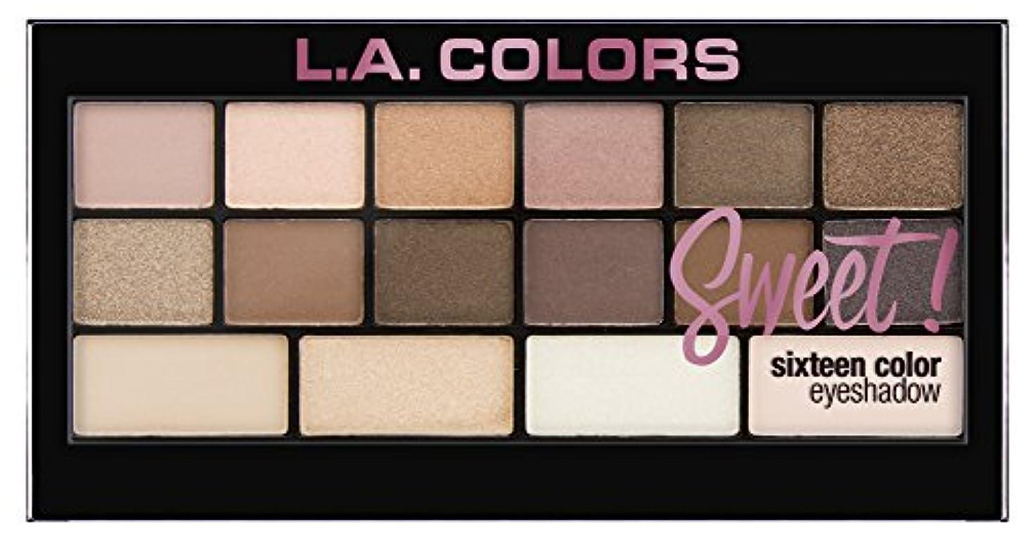 飽和する愛人過言L.A. Colors Sweet! 16 Color Eyeshadow Palette - Charming (並行輸入品)