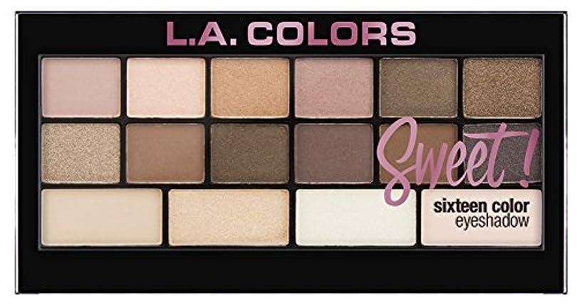 請求書愛情西L.A. Colors Sweet! 16 Color Eyeshadow Palette - Charming (並行輸入品)