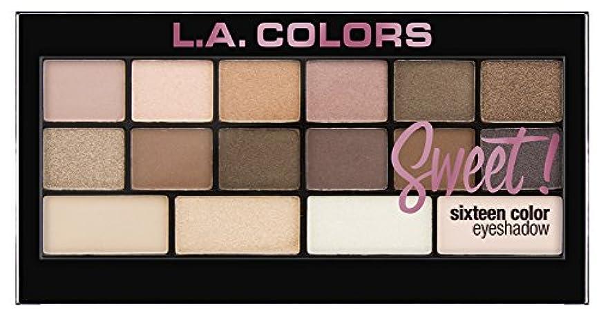 葡萄過半数マエストロL.A. Colors Sweet! 16 Color Eyeshadow Palette - Charming (並行輸入品)