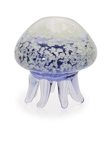 かわいらしい ガラス細工 蓄光クラゲ パープル 120206