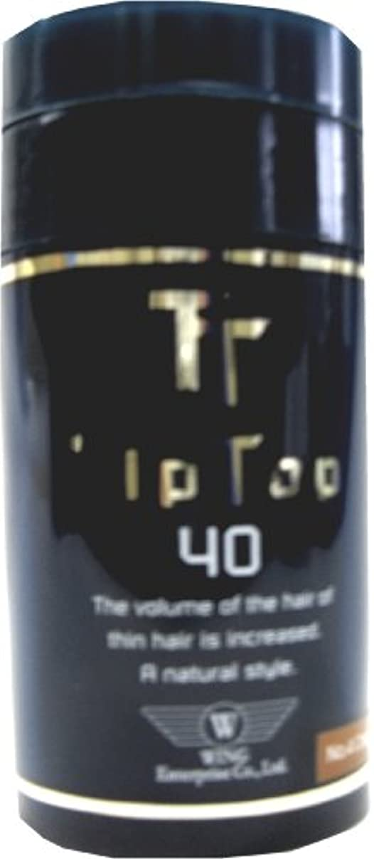 厚さレッスン大きなスケールで見るとウイングエンタープライズ ティップトップ 40 No.2 ダークブラウン 40g