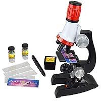 Surenhap 顕微鏡セット 子供 おもちゃ マイクロスコープ ミニ顕微鏡 初心者 倍率切り替え可能100X、400X、1200Xの拡大倍率 最高プレゼント クリスマス 誕生日プレゼント 進学祝い 入学祝い 自由研究
