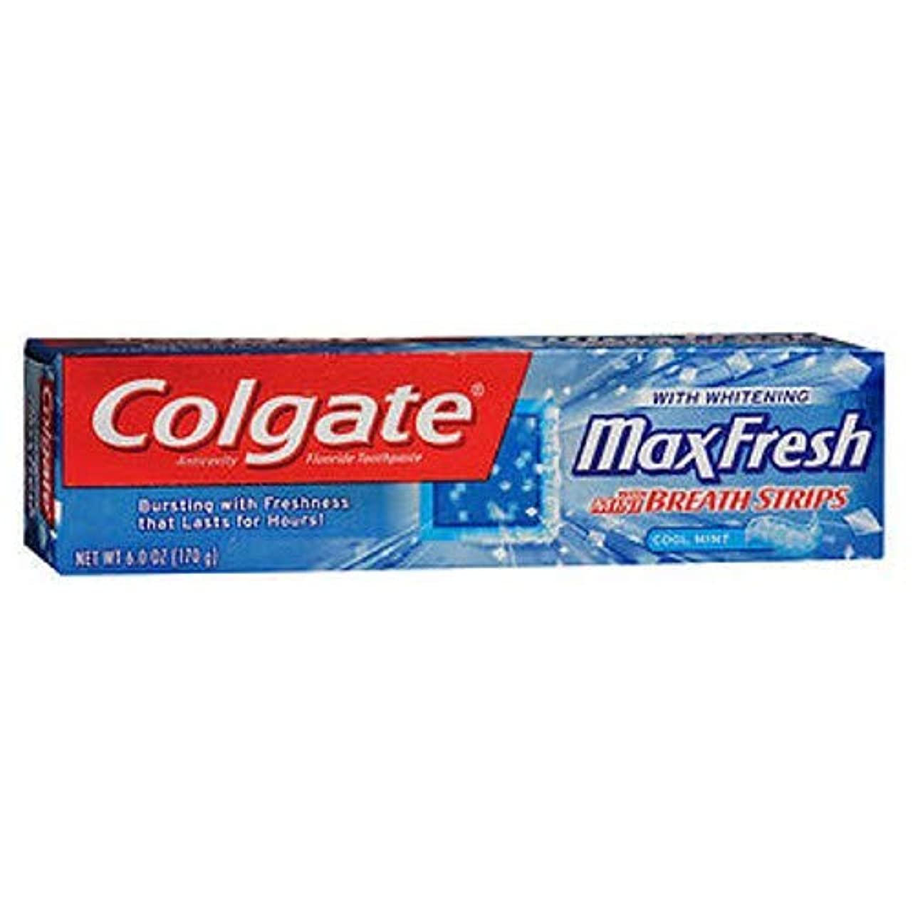 グローバル水分開示するColgate マックス新鮮なハミガキミニブレスストリップ,ミント&#44クール。 6オズ。