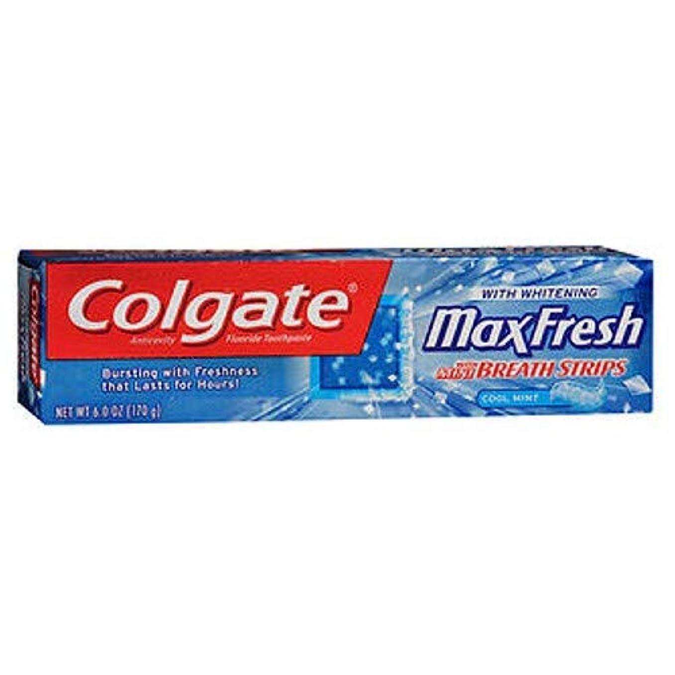 拍手する月面電子Colgate マックス新鮮なハミガキミニブレスストリップ,ミント&#44クール。 6オズ。