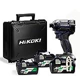 HiKOKI(ハイコーキ) 第2世代36Vコードレスインパクトドライバ ディープオーシャンブルー リピーターモデル(充電器別売り) WH36DC(2XND) 蓄電池合計3個セット