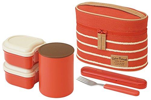 スケーター 保温弁当箱 560ml レトロフレンチ オレンジレッド KCLJC6