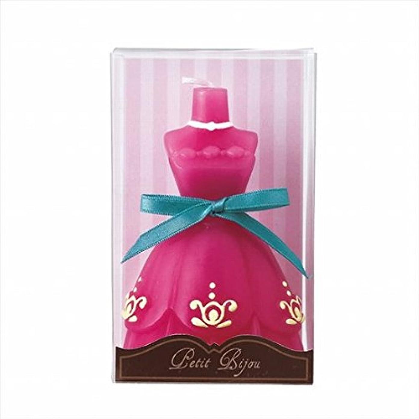 批判キリマンジャロ古いカメヤマキャンドル(kameyama candle) ドレスキャンドル 「 ダークピンク 」