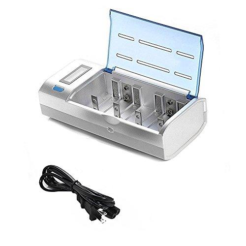 FreeShow 急速充電器セット バッテリーチャージャー 多目的充電器 LCDニッケル水素/ニカドAA/ AAA / SC/ C/ D/9V 6本の同時充電が可能です1本からでも充電可能です 急速充電、放電、リフレッシュに便利な充電器