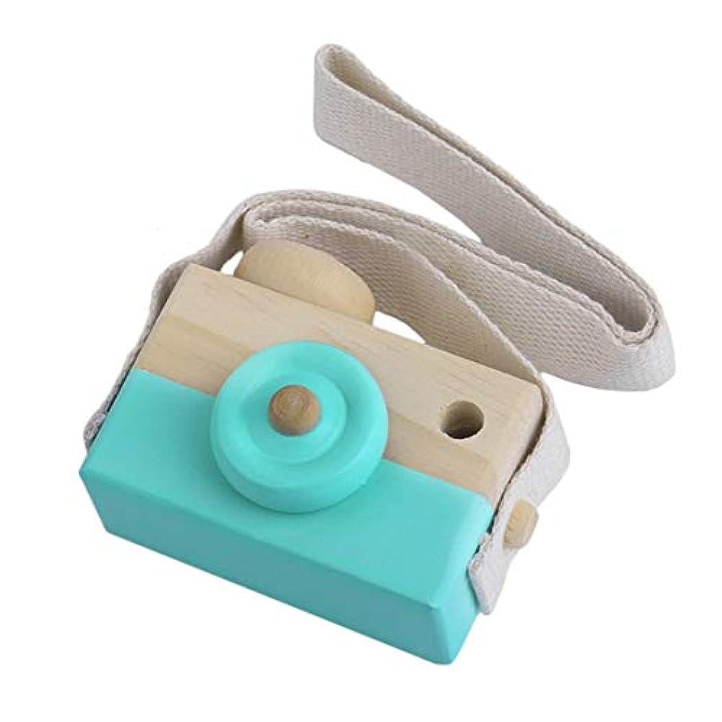 性能アレンジ危機かわいい木製玩具カメラキッズガールズボーイズクリエイティブネックカメラ写真小道具の装飾あなたの子供のための素晴らしいギフト3色-グリーン