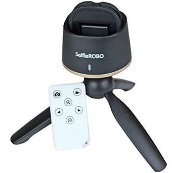 SelfieROBO セルフィーロボ【スマホ用セルフィー自動撮影スタンド】 顔を追尾して自動撮影 リモコンで撮影も 【iPhone用アプリ、Android用アプリで簡単コントロール】写真&ビデオ対応 セルフィーロボット