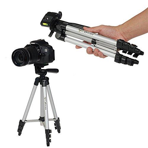 BOWNY カメラ 三脚 アルミ製 自由雲台 折りたたみ可能 携帯性・機能性 4段伸縮 軽量 コンパクト自撮り 運動会や発表会・登山・旅行用に持ち運び最適 自由雲台付き 水準器付 収納袋付き デジカメ 一眼レフ ビデオカメラ に対応 写真撮影に必須