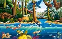 Dinosaur Jungle 555 Piece Jigsaw Puzzle by Grace DeVito
