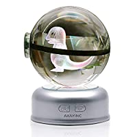 AXAYINC 3dクリスタルボール70mmLED夜ライトAdvanceレーザー彫刻子供のギフト。 (xiao huo long)
