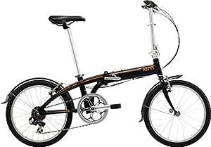 tern(ターン) Link B7 20インチ 2016年モデル 折りたたみ自転車 [7speed、フェンダー付き、エントリーモデル] ブラック/オレンジ 16LIB7BKOR