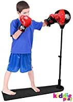 Kiddie Play Standing Boxing Set with Punching Ball and gloves for kids