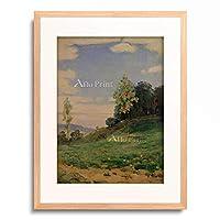 フェルディナント・ホドラー Ferdinand Hodler 「Landscape with two small trees」 額装アート作品