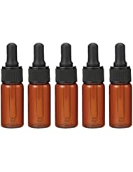 生活の木 茶色遮光スポイト瓶 10ml (5本セット)