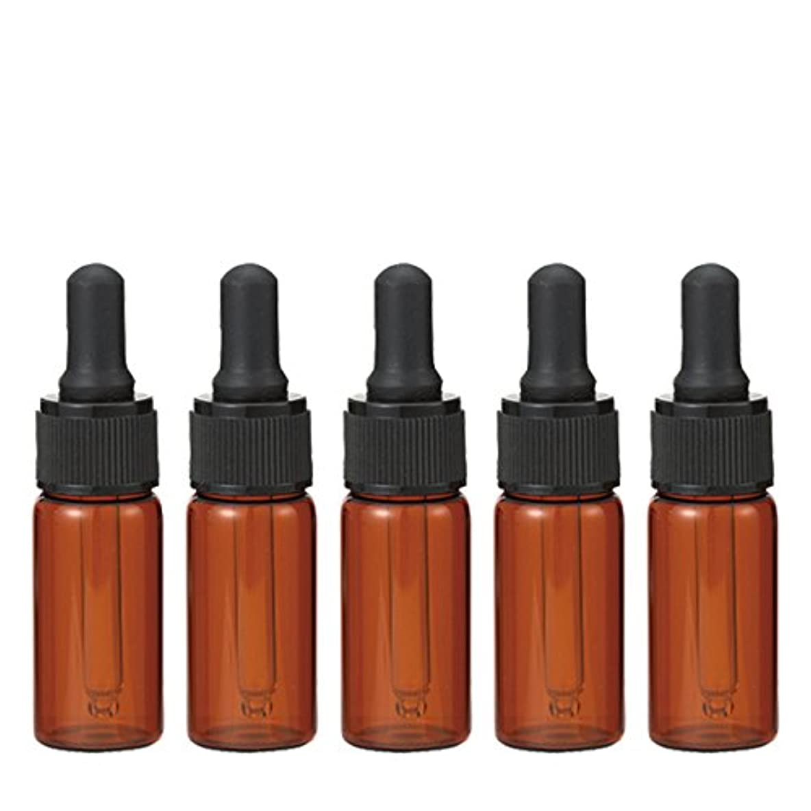 開始うまくいけば欠乏生活の木 茶色遮光スポイト瓶 10ml (5本セット)