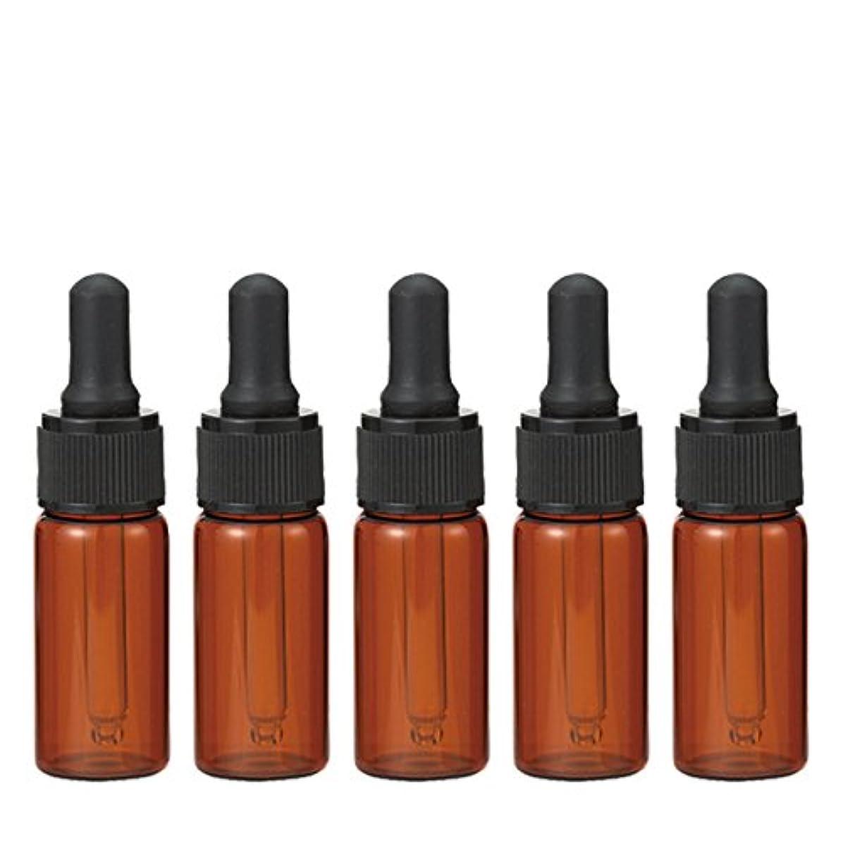 罹患率ラッチ顔料生活の木 茶色遮光スポイト瓶 10ml (5本セット)