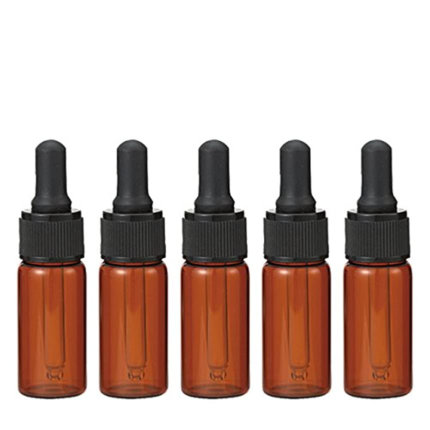 葉を集める達成通訳生活の木 茶色遮光スポイト瓶 10ml (5本セット)