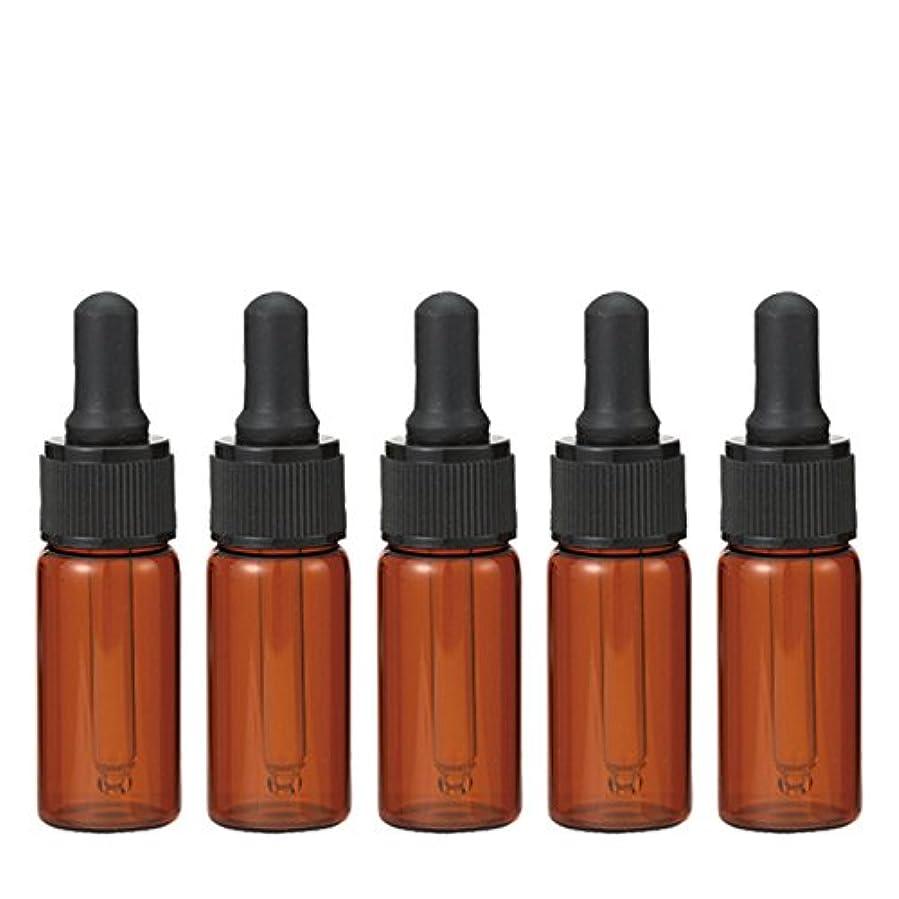 膨らみ廃止する帽子生活の木 茶色遮光スポイト瓶 10ml (5本セット)