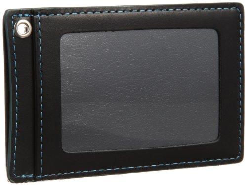 バルア カラーステッチ 単パスケース メンズ 定期入れ 薄型 牛革 150-537 ブルー