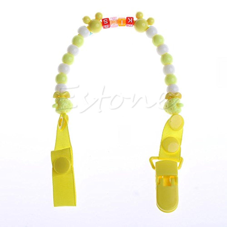 イエロー1 toddler-baby-hand-made-dummy-pacifier-clip-chain-holder-soother-nipple-strap-new