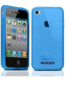 【正規品】 TUNEWERE SOFTSHELL for iPhone 4 ブルー TUN-PH-47