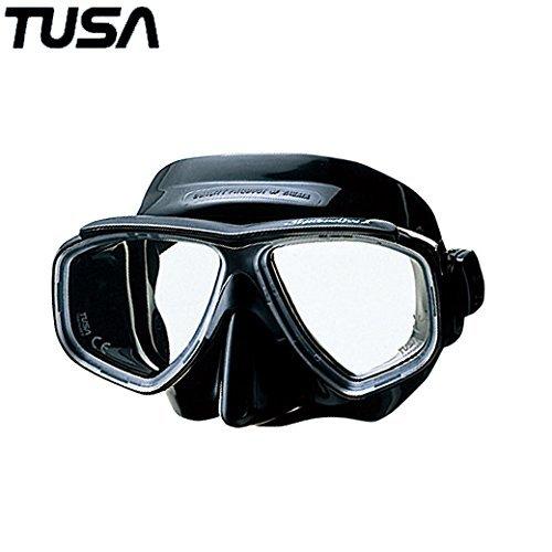 TUSA スプレンダイブII マスク M-7500QB BK(ブラックシリコン)