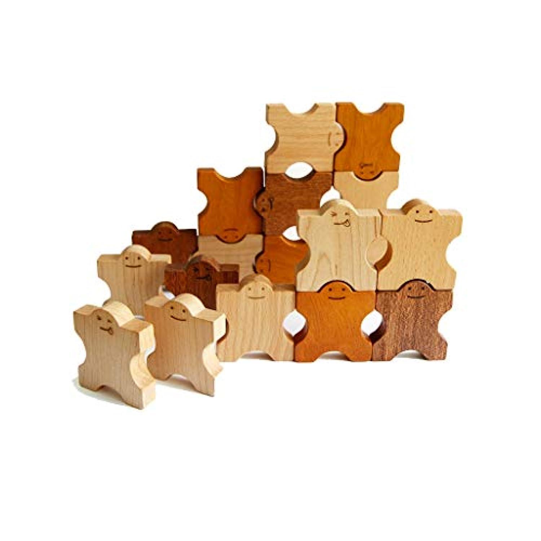 ドミトリー30個の木製のパズルビルディングブロックのおもちゃ ( Color : マルチカラー まるちから゜ , Size : Dominoes )