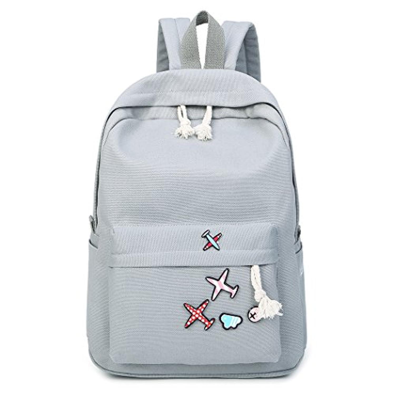 MIOIM マザーズバッグ キャンバス バッグ レディース ハンドバッグ おしゃれ 多機能大容量 シンプル 4セット 防水 (グレー)