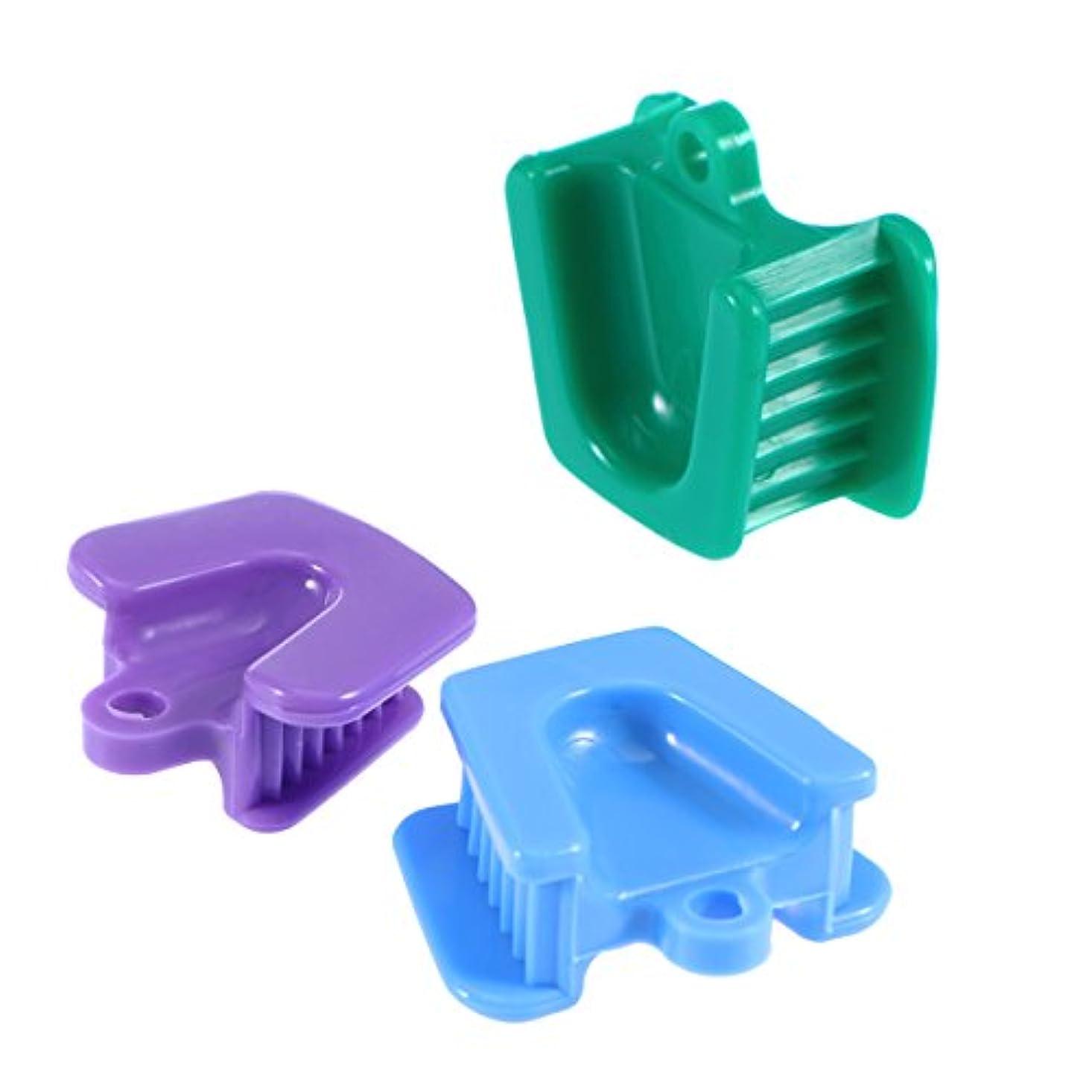 熱保持固有のROSENICE 口プロップ歯科用小道具3個バイトブロッククッションオープナーリトラクタ小中大サイズ(図示)