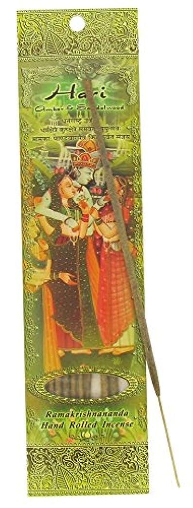 印をつける心からいろいろIncense Sticks Hari – Amber andサンダルウッド