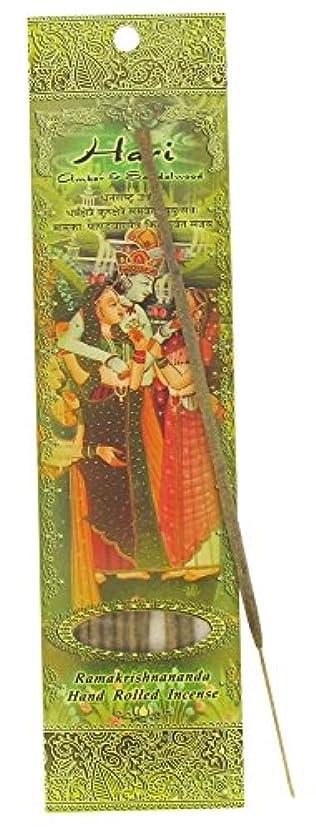 心のこもったパドル激怒Incense Sticks Hari – Amber andサンダルウッド