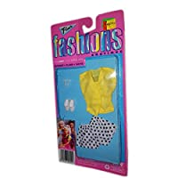 "Totsy Flair Fashionsバービー、フレアー、ブティックのSandi & 11.5 "" Dolls 1980イエロートップPolka Dot Shorts Summer Outfit"