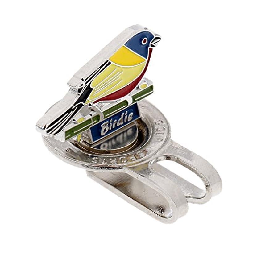 現実にはシャー通知Toygogo 丈夫な鮮やかな鳥のデザイン磁化帽子キャップクリップオンゴルフボールマーカー