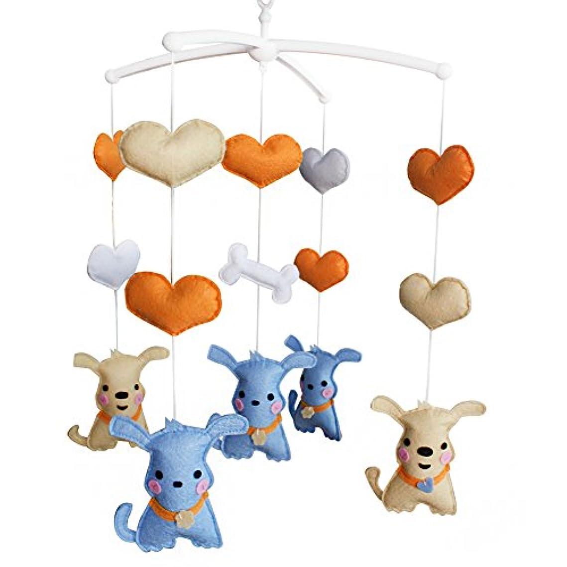看板不器用鉄ベビー用ベビーミュージカル幼児用おもちゃハンギングベルピュアソング、ドッグタイプ、#03