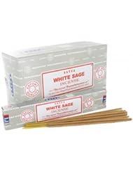 SATYA WHITE SAGE ホワイトセージ 聖なる樹 浄化 お香 スティック 約15g入 (1個) [並行輸入品]
